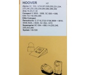 PÖLYPUSSI HOOVER H7 SYSTEM H7 100-500,S3858-3869 4kpl+2mf